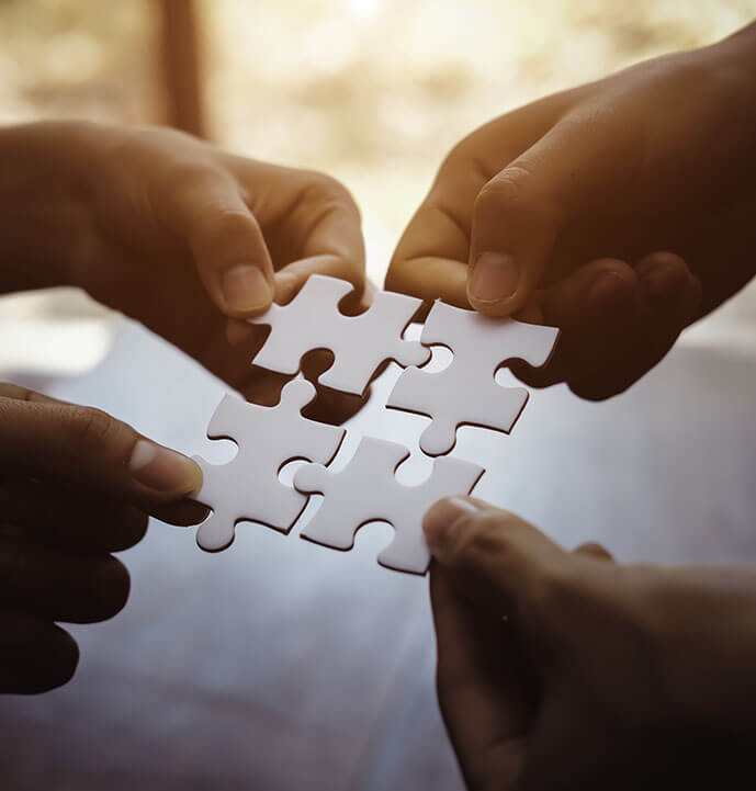 connecting the puzzle piece